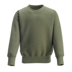Kids's Crew Neck Fleece Sweatshirt in Khakhi