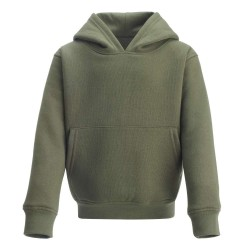 Kid's Pull On Hoodie in Khaki