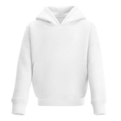 Kid's Pull On Hoodie in White