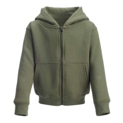 Kid's Zip Up Hoodie in Khakhi