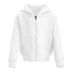 Kid's Zip Up Hoodie in White