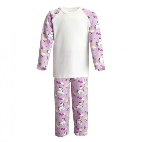 Unicorn Print Long Sleeve Pyjama Set
