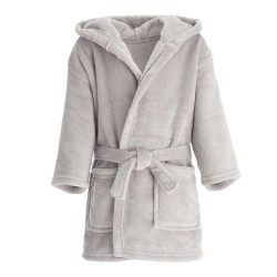 Blank Baby Bath/Dressing Gown in Grey