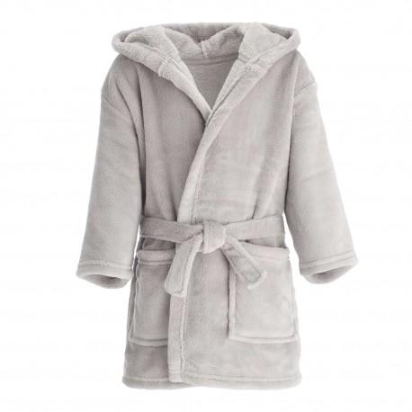 Blank Baby Bath/Dressing Gown in Grey