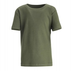 Boy's Crew Neck T-Shirt Khaki