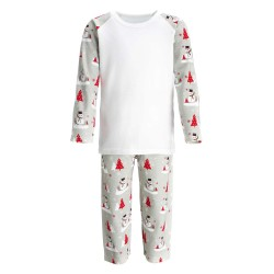 Snowman Print Christmas Pyjama Set