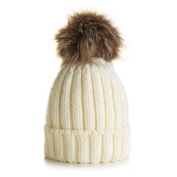 Children's Chunky Knit Beanie in Cream