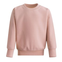 Kids's Crew Neck Fleece Sweatshirt in Dusty Pink