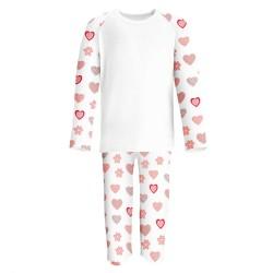 Heart Print Print Long Sleeve Pyjama Set