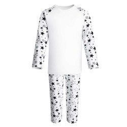 Black Stars Print Long Sleeve Pyjama Set