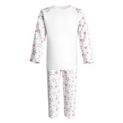 Pink Stars Print Long Sleeve Pyjama Set