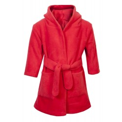 Blank Baby Bath/Dressing Gown in Red
