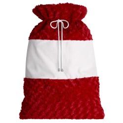Plush Large Santa Sacks in Red