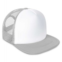 Kid's Mesh Trucker Snapback Cap in Grey
