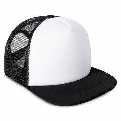 Kid's Mesh Trucker Snapback Cap in Black