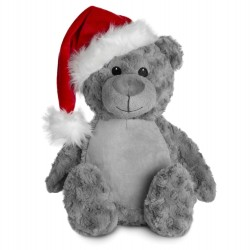 Soft Toys for Personalisation - Christmas Bear In Grey