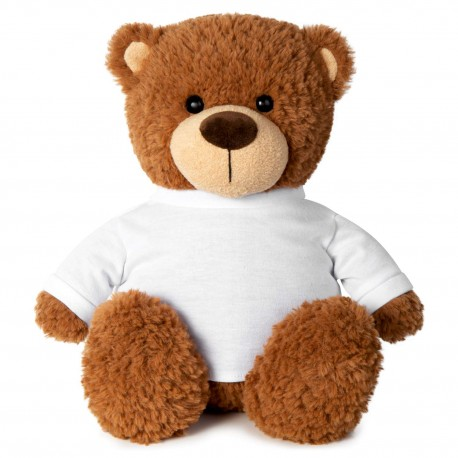 Soft Toys for Personalisation - Brown Bear with Tshirt
