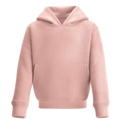 Kid's Pull On Hoodie in Dusty Pink