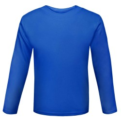Baby and Toddler Blank Long Sleeve T-Shirt in Royal Blue