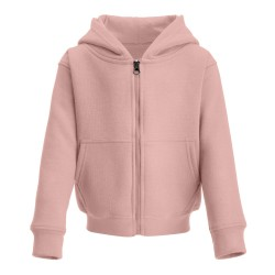 Kid's Zip Up Hoodie in Dusty Pink