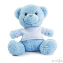 Soft Toys for Embroidery - Blue Teddy Bear with T-Shirt