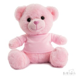 Soft Toys for Embroidery - Pink Teddy Bear with T-Shirt