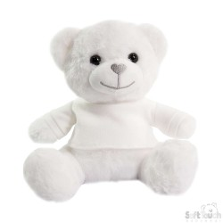Soft Toys for Embroidery - White Teddy Bear with T-Shirt
