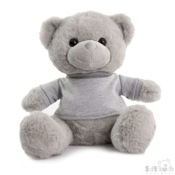 Soft Toys for Embroidery - Grey Teddy Bear with T-Shirt