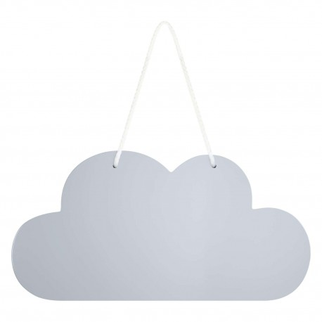 Wooden Cloud Hanging Decoration In Grey
