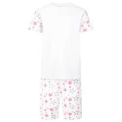 Star Print Short Sleeve Pyjama Set in Pink