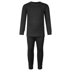 Ribbed Loungewear Set in Black