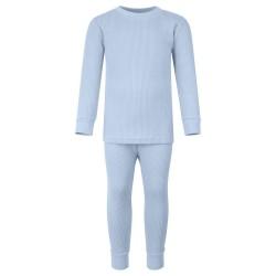 Ribbed Loungewear Set in Dusty Blue