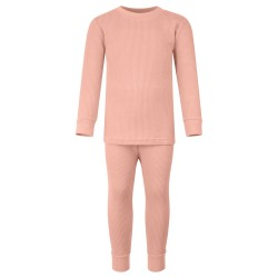Ribbed Loungewear Set in Dusty Pink