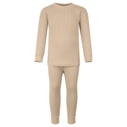 Ribbed Loungewear Set in Warm Taupe