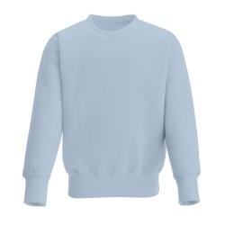 Kids's Crew Neck Fleece Sweatshirt in Dusty Blue