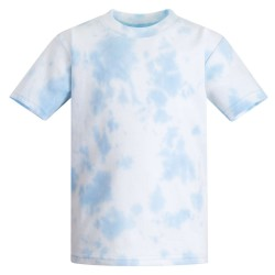 Baby and Toddler Blank T-Shirt in Tie Dye Light blue