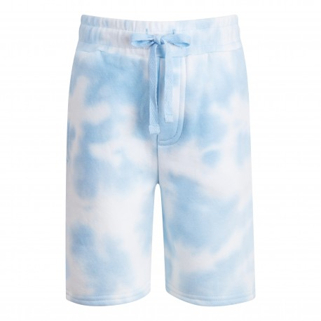 Cotton Shorts in Tie Light Blue