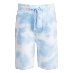 Fleece Shorts in Tie Dye Light Blue