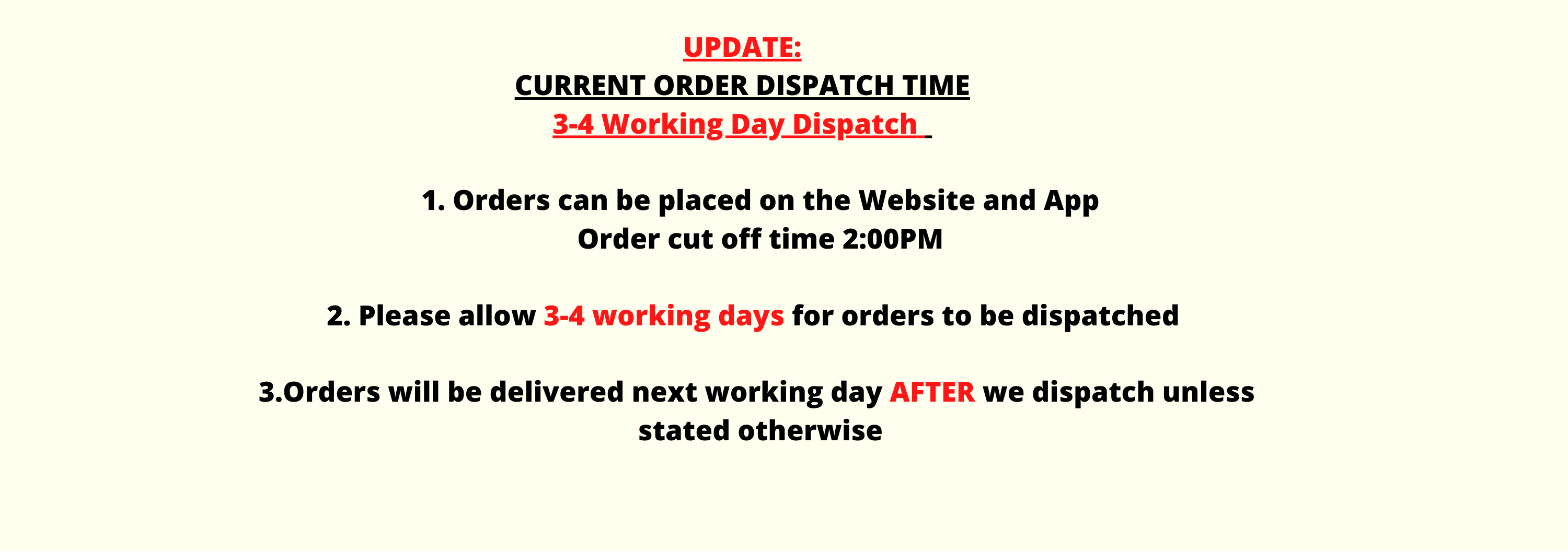 Dispatch time